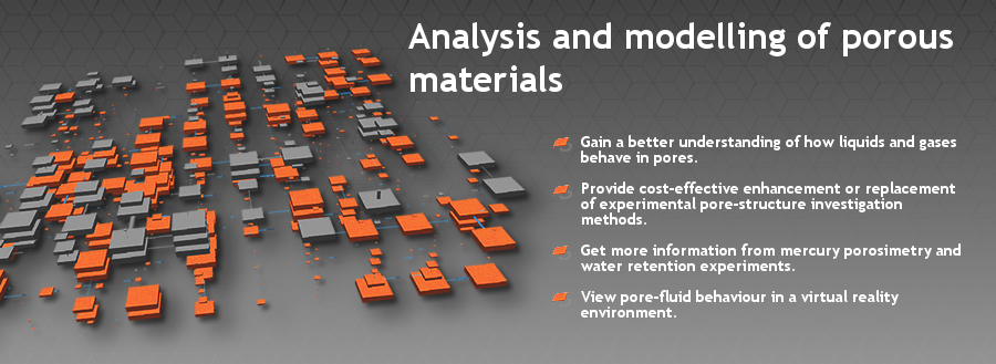 Analysis and modelling of porous materials.