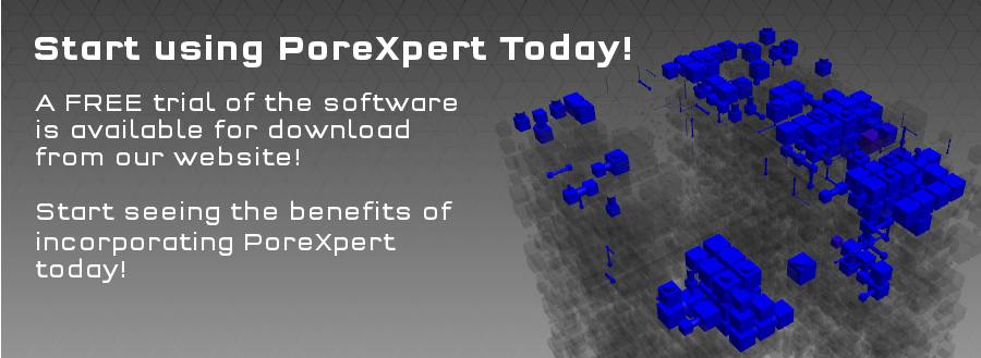 Version 1.6 of PoreXpert now available for updating previous versions, and for testing with your data.
